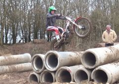 Trials Cylinder Obstacle Techniques with Slow Motion HD Video - Rider - Tom Culliford