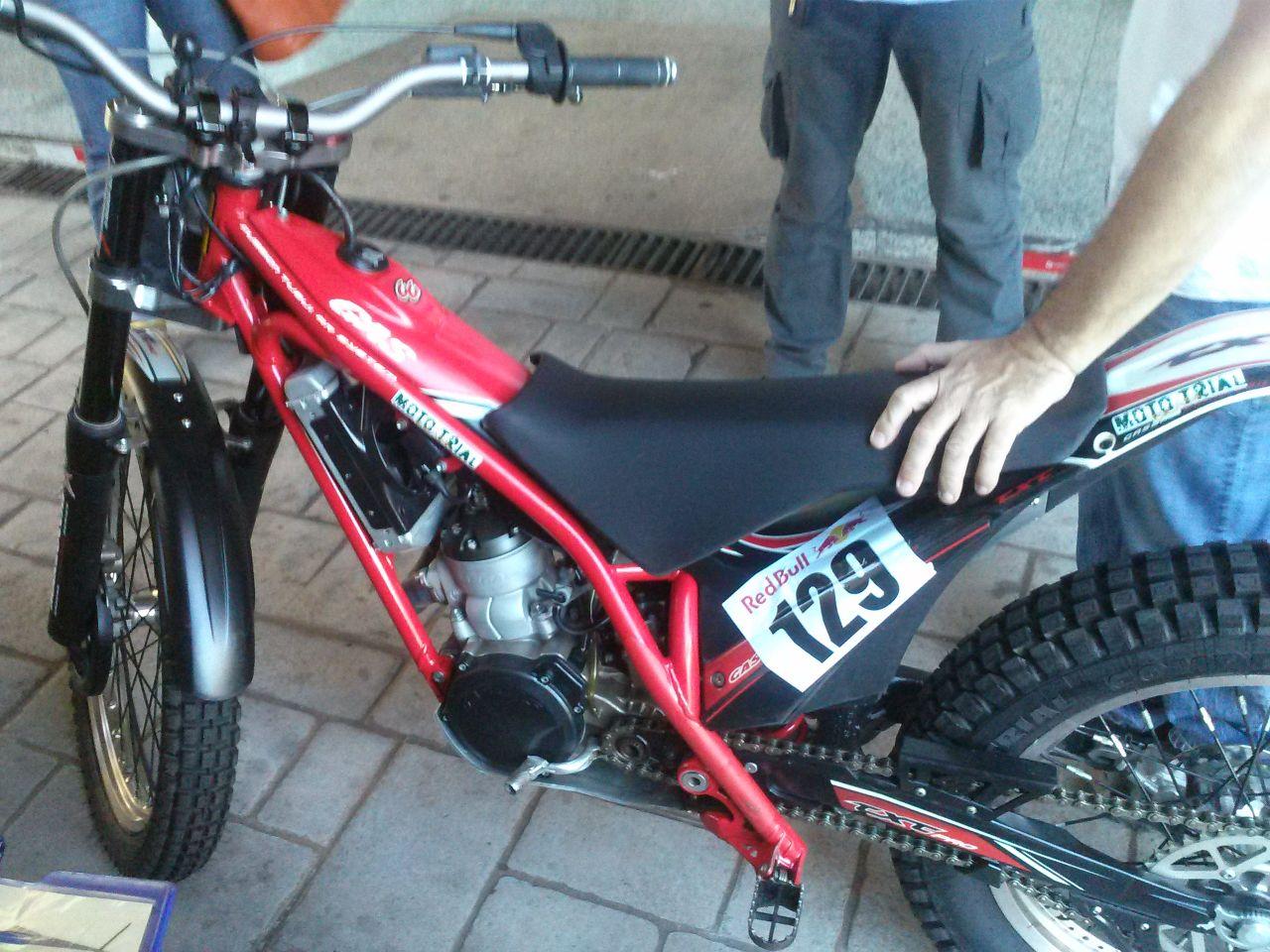 KTM seat on a GasGas