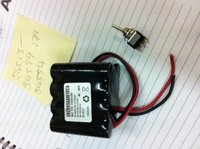 factory prototype battery and switch for Ossa TR280i