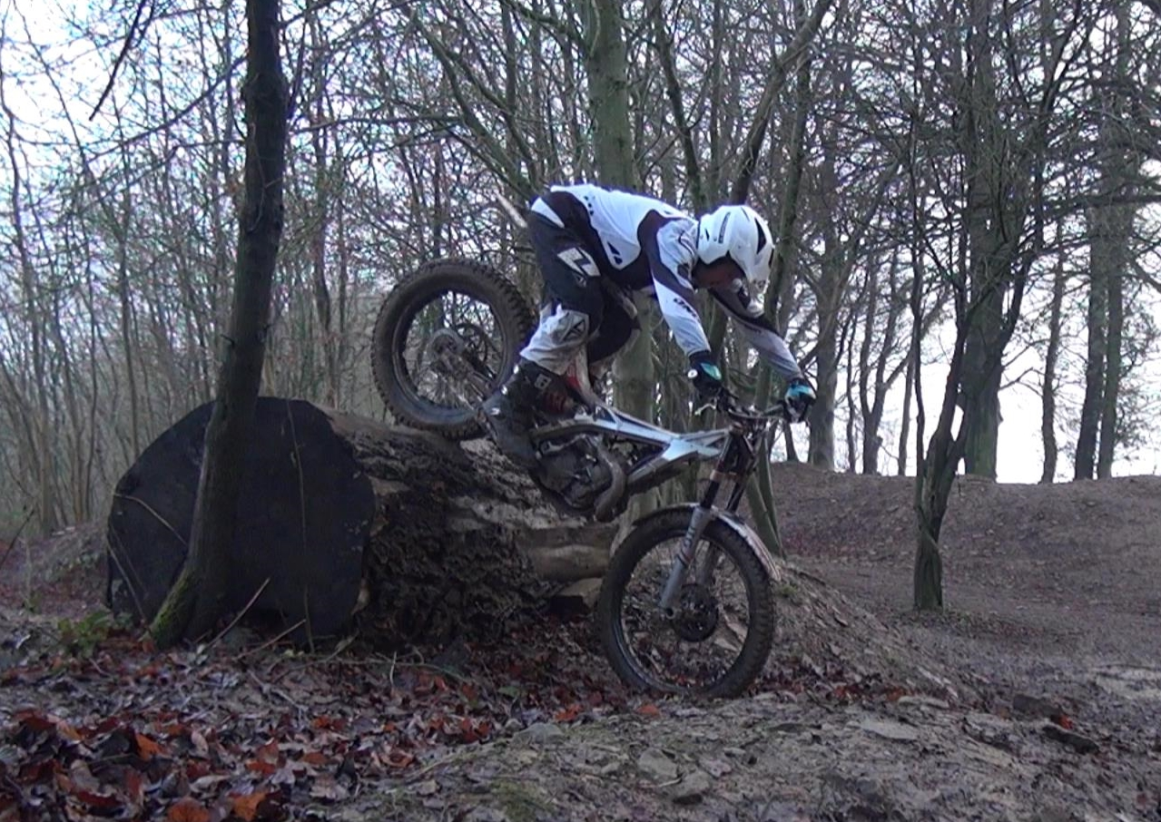 Myself on my Jotagas 250cc finally conquering a Large Log!