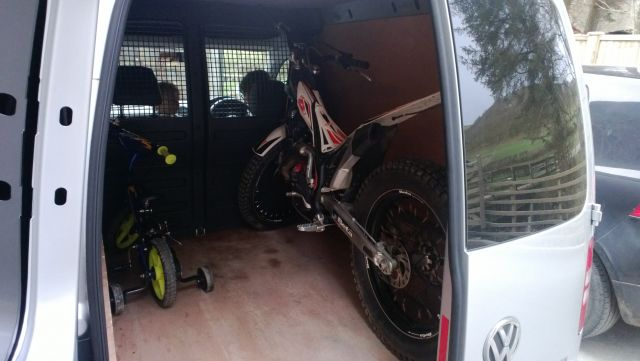 Vw Caddy Loaded With Bike Trials Central
