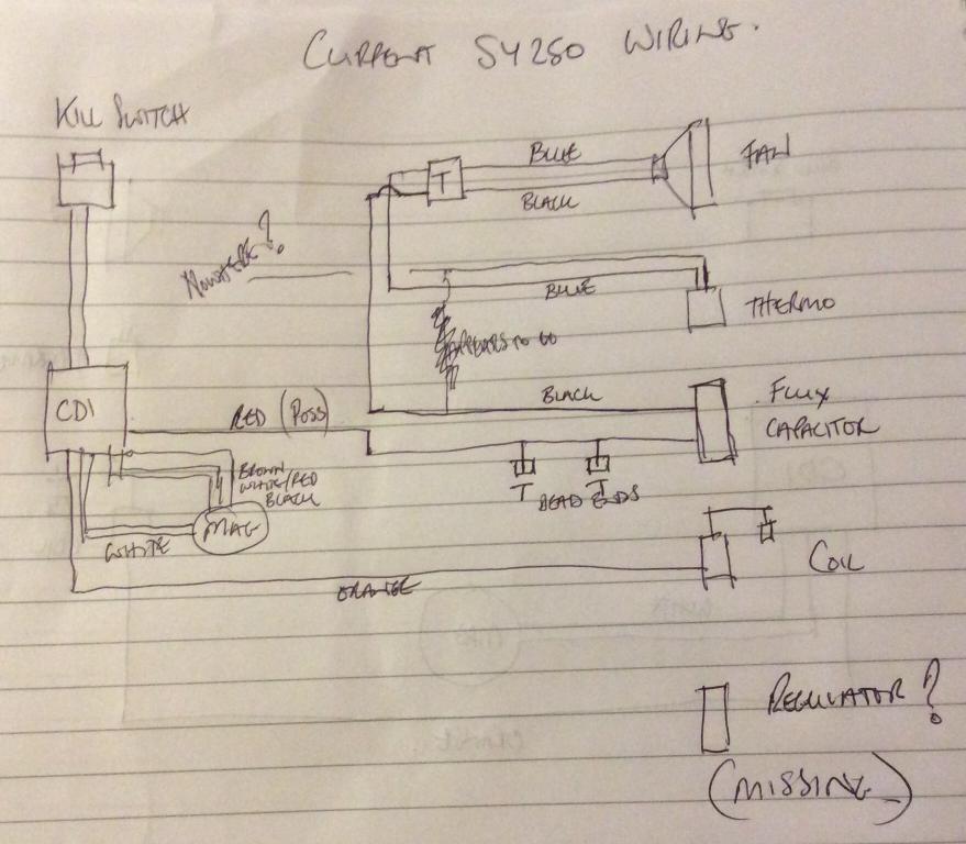 Sy250 Wiring Help Needed - Scorpa