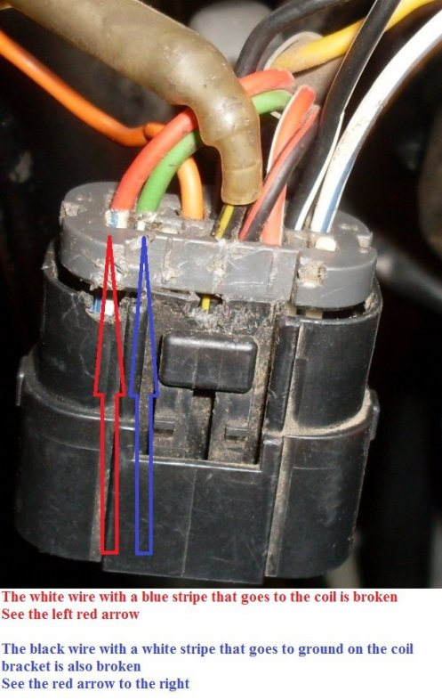 2 broken wires on the CDI connector on the stator harness. 2005 Gas Gas TXT Pro.jpg