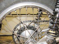 Bultaco 159 rear wheel 001