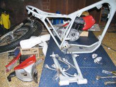 Bultaco dismanteled