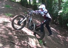 Video still from my Sideways dismount at the top of the Hill