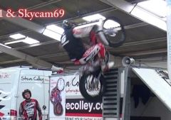 Alexz Wigg & Steve Colley performing at Stoneleigh Warwickshire Dirt Bike show