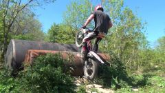 Wheelie turns, Endos, Double Logs & Double Oil drums with HD Slow motion down our local club